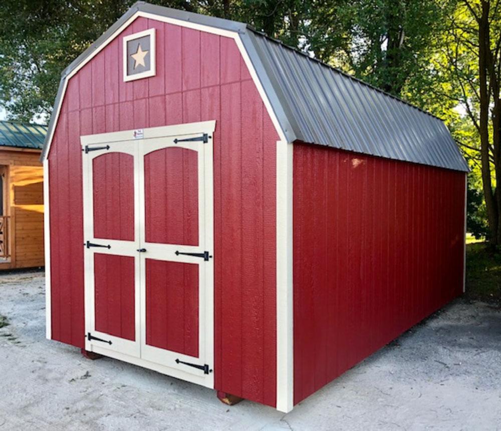 High side barn sheds