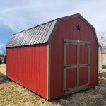 High Side Barn, Brown Metal Roof, Star Package, Lot, Carriage House Doors.