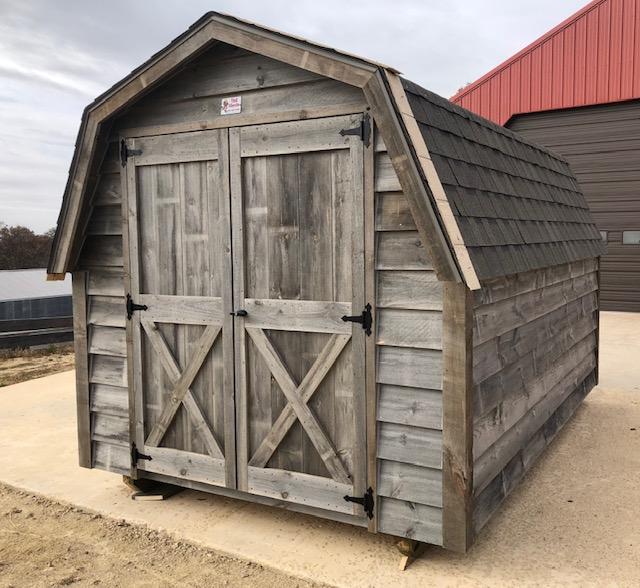 Rustic Barn, Shingle Roof, Gray