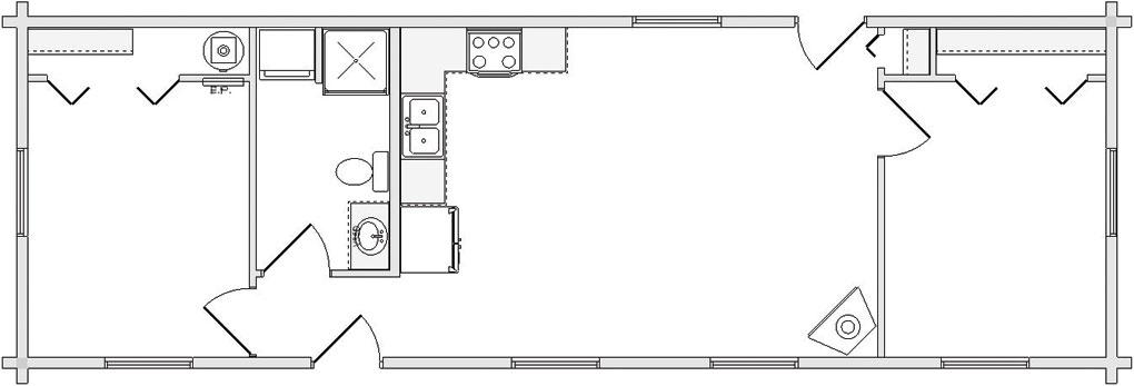 Floorplan Legacy Wisconsin Log Cabin